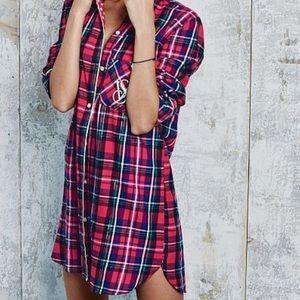 Plaid Victoria secret sleep shirt
